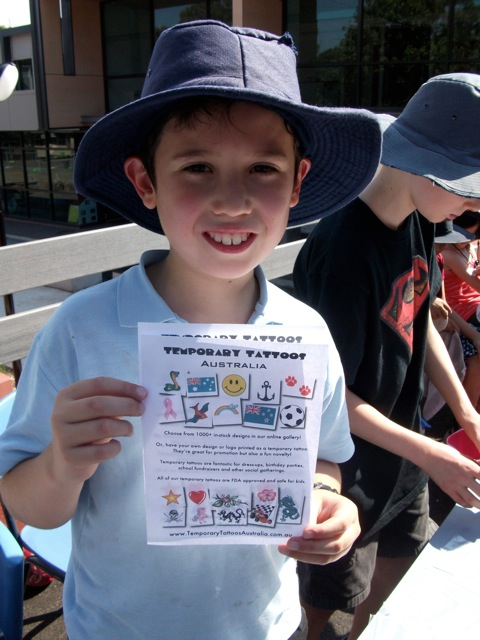 Temporary Tattoos Australia - School Fundraising